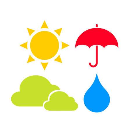 Weather icons set Illustration