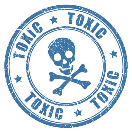 toxicity: Toxic danger stamp