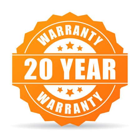 warranty: 20 year warranty icon