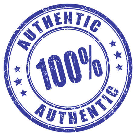 authentic: 100 authentic rubber stamp