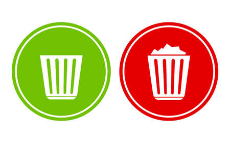 dumping: Empty and full recycle bin
