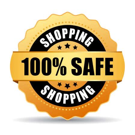 100 safe shopping gold seal