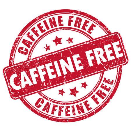 Cafeïne vrij rubber stamp Vector Illustratie