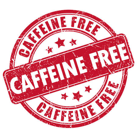 La caffeina timbro di gomma libera Vettoriali