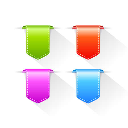 bookmarks: Vector bookmarks ribbons set