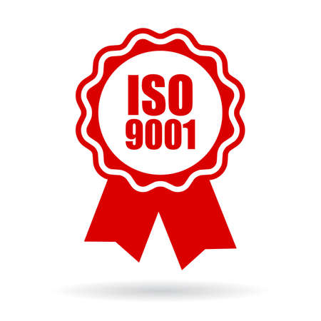 approving: Iso 9001 icon Illustration