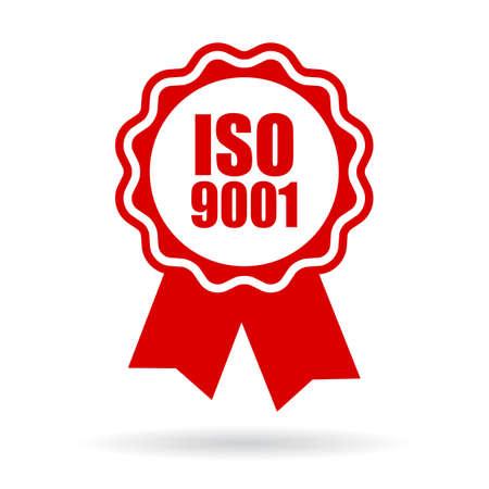 iso: Iso 9001 icon Illustration