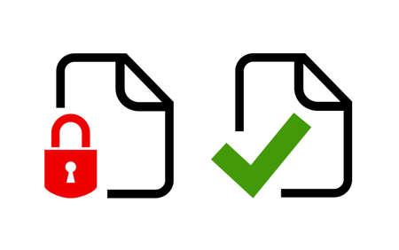 privacidad: los iconos de seguridad de datos
