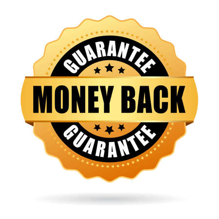 webshop: Money back gold icon