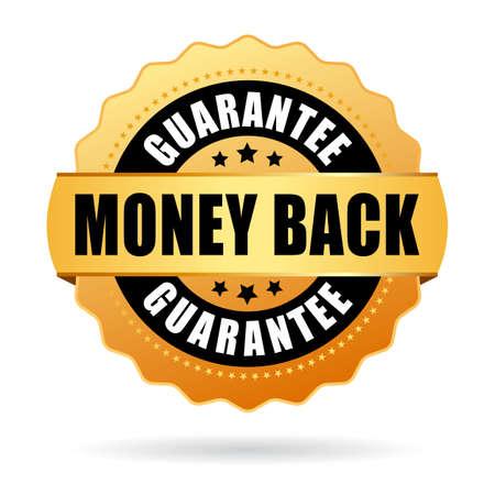Money back gold icon