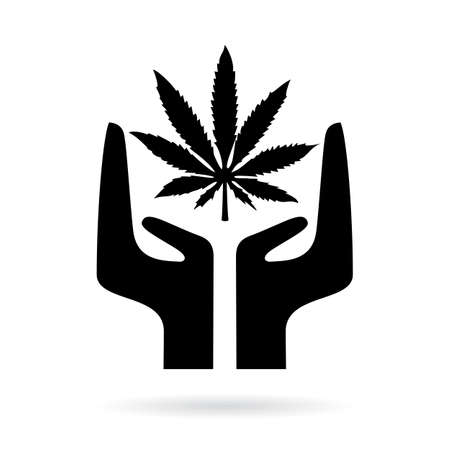 legalize: Marijuana legalize vector icon Illustration