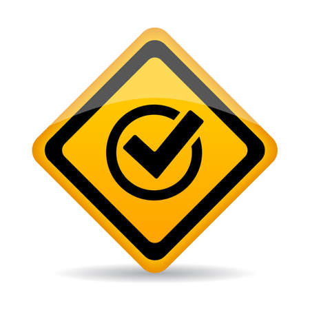 approval button: Approved vector sign