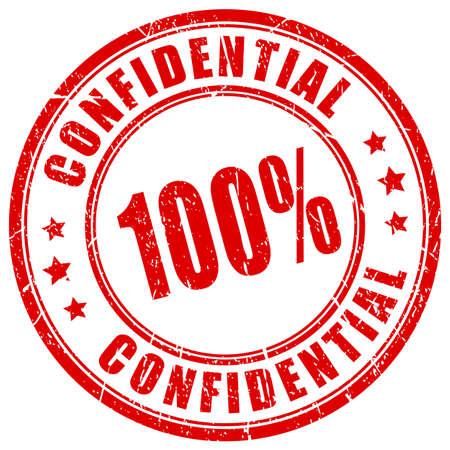 100 tampon en caoutchouc confidentiel Vecteurs
