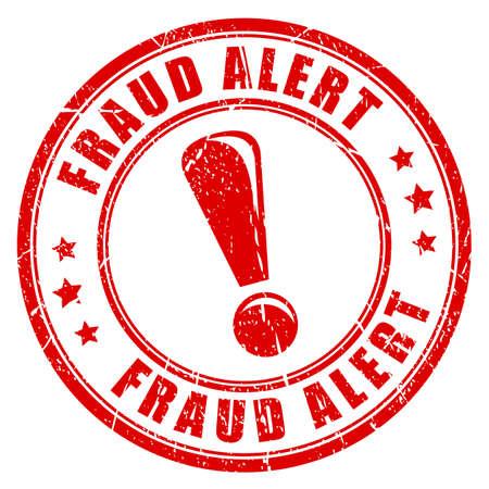 Fraud alert rubber stamp Illustration