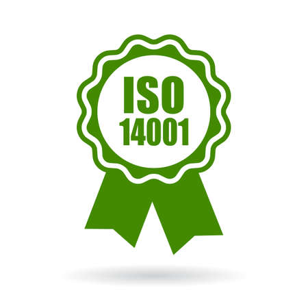 iso: Iso 14001 certified green icon