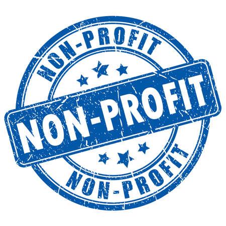非営利のゴム印  イラスト・ベクター素材