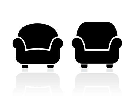 arm chair: Armchairs icons set