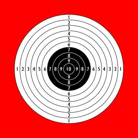 tiro al blanco: tiro al blanco en blanco Vectores