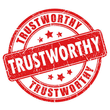 tried: Trustworthy rubber stamp Illustration