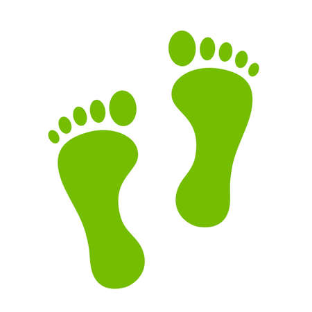 Green footprint icon