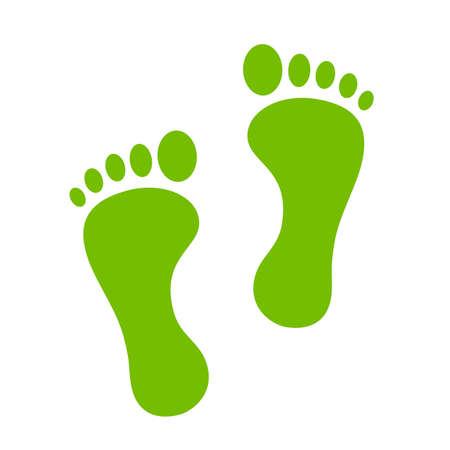 Vert empreinte icône