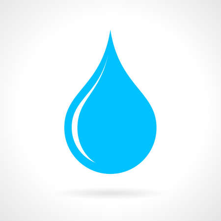 Blue water drop icon