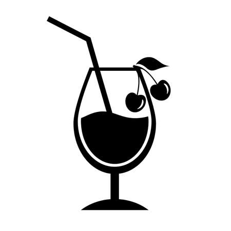 Cherry cocktail icon