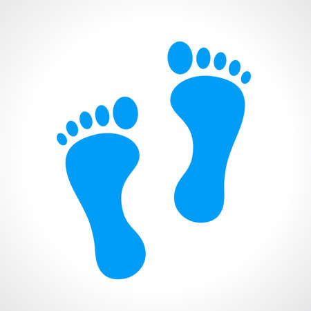 Human footprint icon 矢量图像