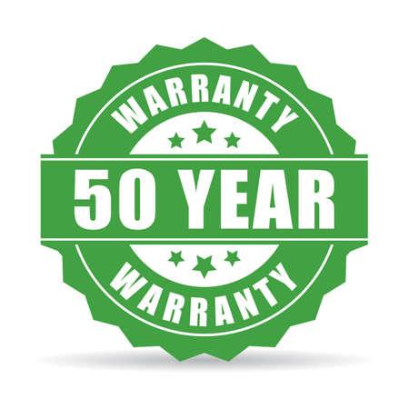 warranty: 50 year warranty icon Illustration