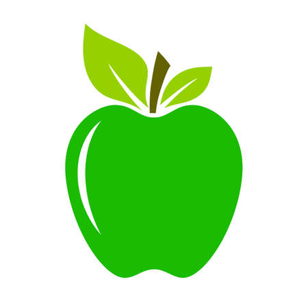 Green fresh apple illustration