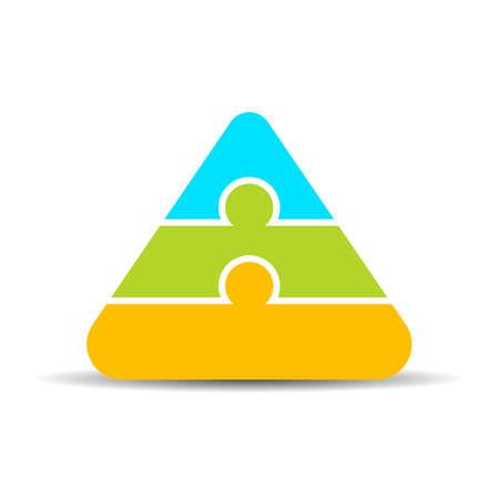 Layered puzzle pyramid