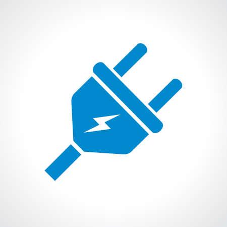 enchufe: Icono de enchufe eléctrico