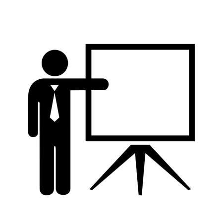 blank screen: Teacher and blank screen