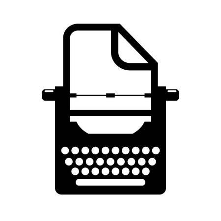 poems: Old retro typewriter icon