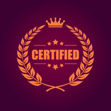 truthful: Certified product emblem Illustration