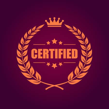 certified: Certified product emblem Illustration