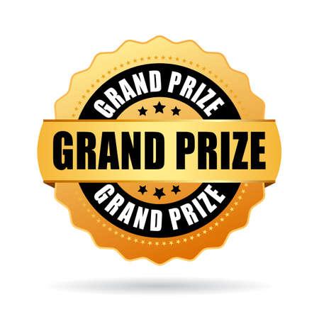 grand sale sticker: Grand prize gold medal