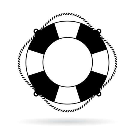 Life preserver ring icon