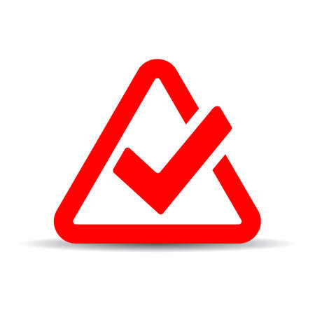 Red tick mark symbol
