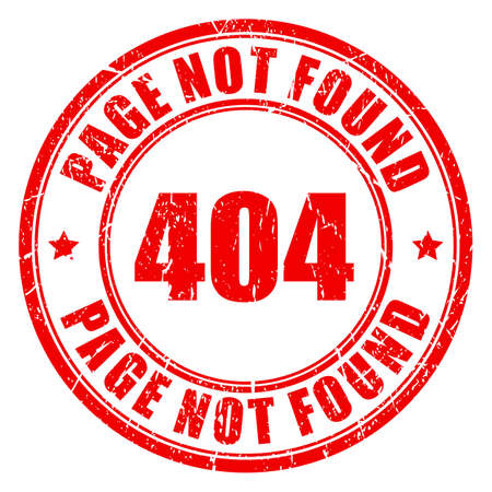 oops: 404 page not found stamp