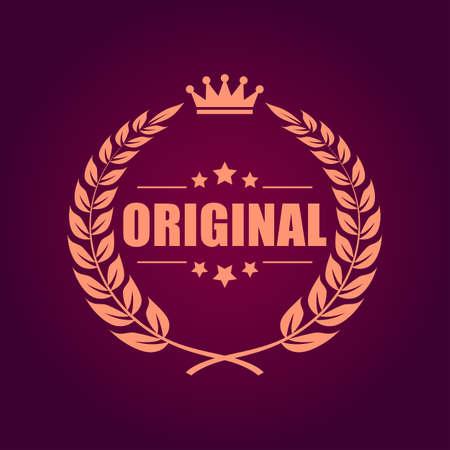 truthful: Original laurel heraldic emblem
