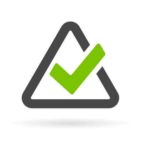 checked: Triangular checkbox icon Illustration