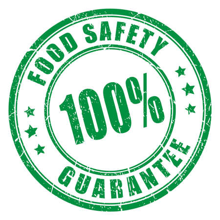 Food safety guarantee rubber stamp
