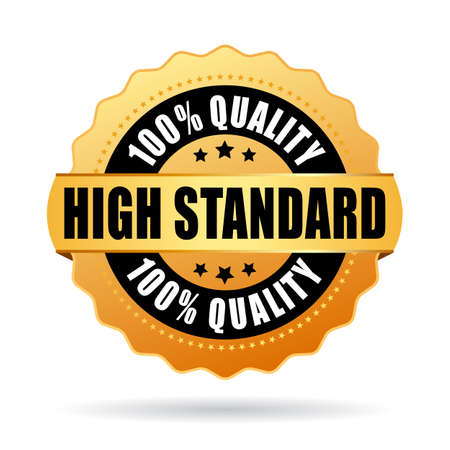 credible: High standard gold star icon