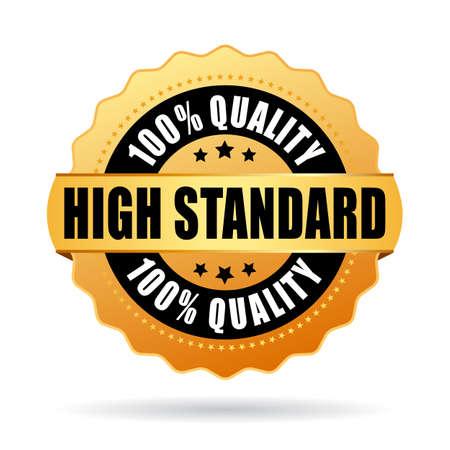 Hoher Standard Gold Stern Vektorgrafik