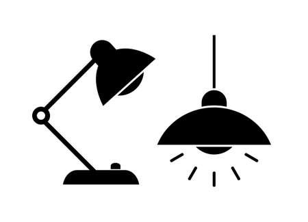 Lamp light icon Illustration