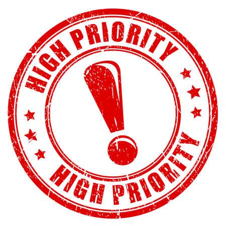 High priority ink vector stamp Çizim