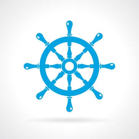 seaman: Helm wheel icon Illustration