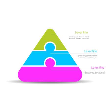three layer: Pyramid diagram template