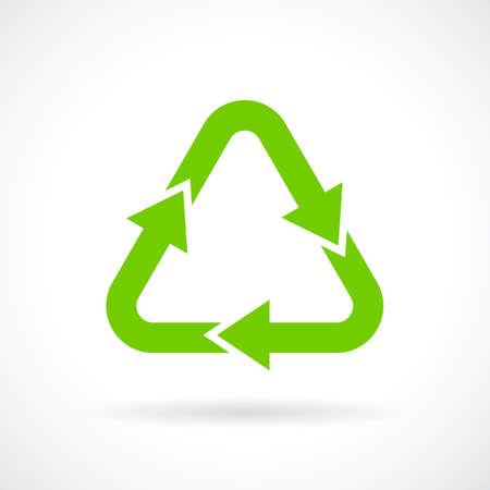 reciclar: el signo de reciclaje verde